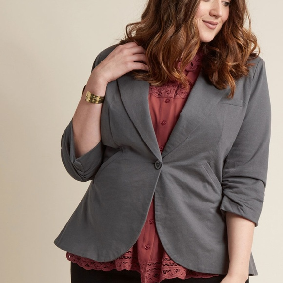 2db590ff8963 Modcloth Jackets & Coats | Nwt Fine And Sandy Blazer In Stone In L ...
